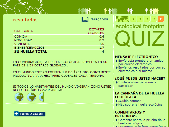 ecological footprint quiz earth day network autos post. Black Bedroom Furniture Sets. Home Design Ideas